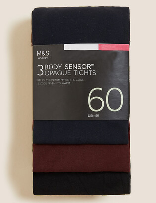 Marks and Spencer 3pk 60 Denier Body Sensor Tights