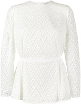 Emilia Wickstead Didi Peplum Top - women - Silk/Polyester - 6