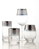 Mikasa Cheers Metallic Stemless Wine Glasses, 4-Piece Set