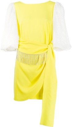 Gina Draped Embellished Mini Dress