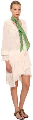 Philosophy di Lorenzo Serafini Pleated Mini Dress W/ Ruffles