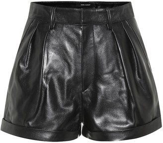 Isabel Marant Fabot high-rise leather shorts