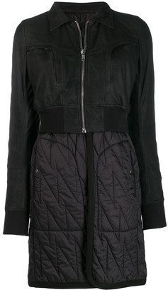 Rick Owens Panelled Layered Coat