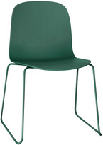 Muuto Visu Chair With Coloured Wire Frame/Shell - Green