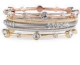 RJ Graziano Tri-Tone Bangle Bracelet Set