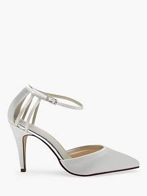 Rainbow Club Kennedy Strappy Stiletto Heel Court Shoes, Ivory