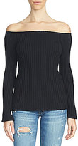 1 STATE Off-the-Shoulder Chunky Sweater