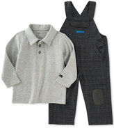 Calvin Klein 2-Pc. Polo Shirt & Overalls Set, Baby Boys (0-24 months)