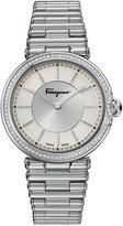 Salvatore Ferragamo Women's Swiss Style Diamond (1/3 ct. t.w.) Stainless Steel Bracelet Watch 36mm FIN05 0015