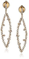 Suzanne Kalan Kalan by Marquise-Shape Pave-Set White Sapphire Post Earrings