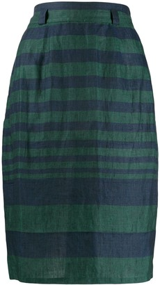 Versace Pre-Owned 1980s striped wrap skirt