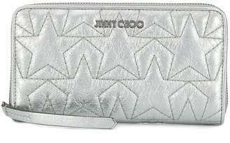 Jimmy Choo Hazel metallic leather purse