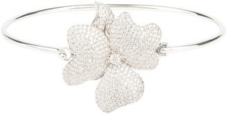 Latelita Flower Large Statement Cuff Bracelet Silver
