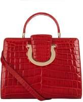 Salvatore Ferragamo Medium Thea Crocodile Top Handle Bag