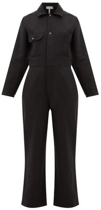 Apiece Apart Totumo Linen-blend Jumpsuit - Black