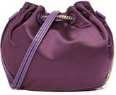 Diane von Furstenberg Love Power Mini Satin Drawstring Bag