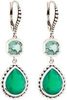 Stephen Dweck Green Quartz & Agate Dangle Earrings