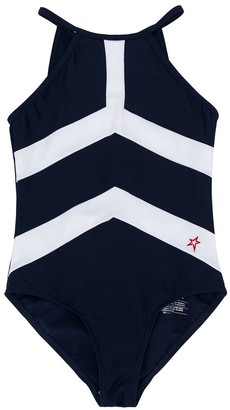 Perfect Moment Kids Striped Swimsuit