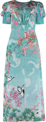 Saloni Bianca Printed Crepe-de-chine Dress