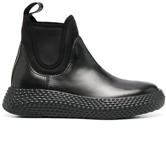 Emporio Armani Chunky Sole Ankle Boots