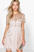 boohoo Boutique Embellished Skater Dress
