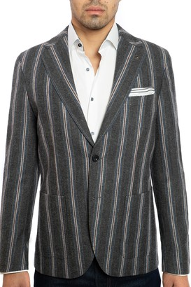 Joe's Jeans Striped Patch Pocket Slim Fit Jacket