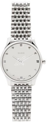 Gucci G-timeless Stainless-steel Watch - Silver