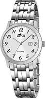 Lotus Women's Quartz Watch with White Dial Analogue Display and Silver Stainless Steel Bracelet 18179/1
