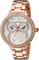Betsey Johnson Women's BJ00616-01 Glitter Owl Motif Dial Watch
