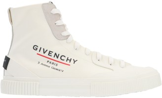 Givenchy Tennis Logo High-Top Sneakers