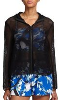 Clover Canyon Hooded Mesh Zip-Up Jacket