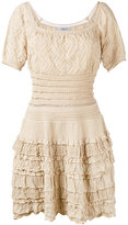 Blumarine short sleeve knitted dress - women - Cotton/Polyamide - 40