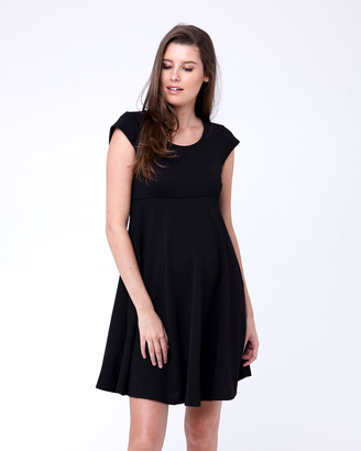 Ripe Maternity Textured Skater Dress