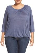 MICHAEL Michael Kors Plus Size Women's Cheval Lace Print Peasant Top