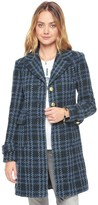 Juicy Couture Basketweave Plaid Coat
