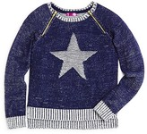 Aqua Girls' Marled Star Sweater - Sizes S-XL