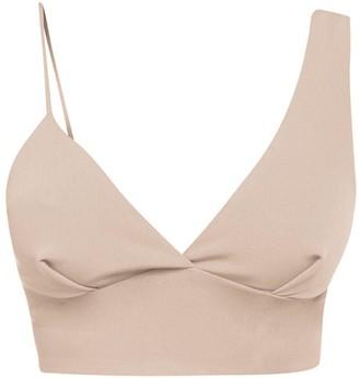 Cliché Reborn Asymmetric Bra Top In Blush Pink