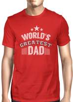365 Printing World's Greatest Dad Mens Crew Neck Cotton Shirt Perfect Dad Gifts