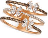 LeVian Le Vian Chocolatier Diamond Butterfly Openwork Ring (7/8 ct. t.w.) in 14k Rose Gold