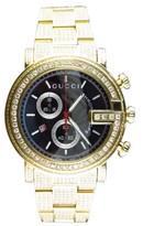 Gucci 101 G Gold PVD Real 44mm Diamond YA101334 Watch