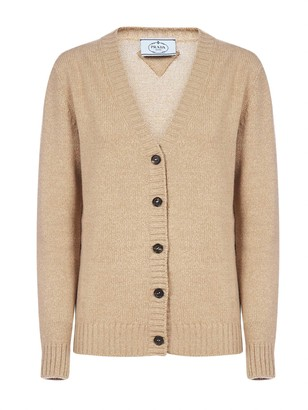 Prada V-Neck Knitted Cardigan