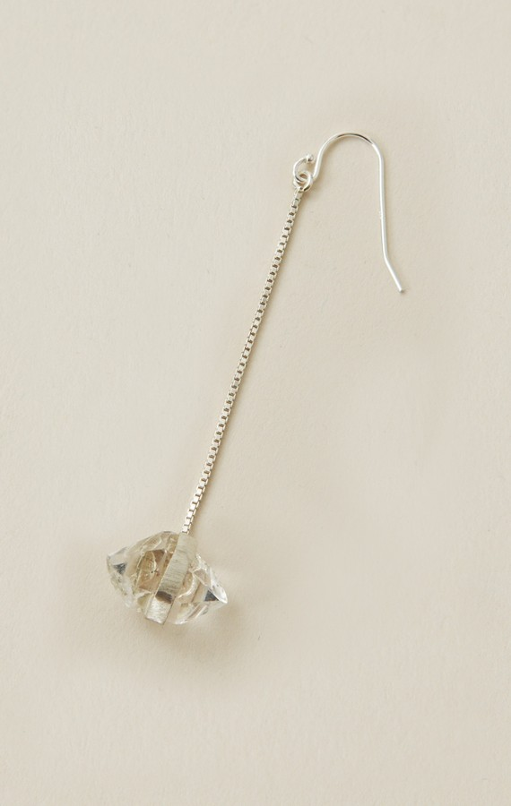 Torchlight Herkimer Diamond Drop Earring