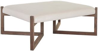 Bower Ottoman - Ivory Linen - Community - frame, natural; upholstery, ivory
