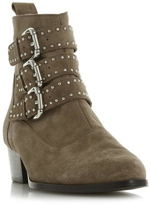 Dune London Pagent Buckle Detail Ankle Boots