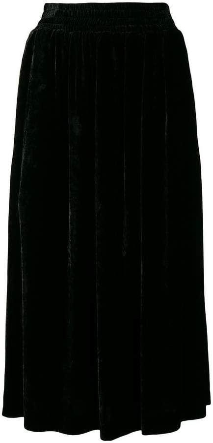 Golden Goose velvet midi skirt