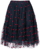 P.A.R.O.S.H. embroidered lip full skirt