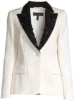 Escada Women's Brikenati Beaded Jacquard Dinner Jacket