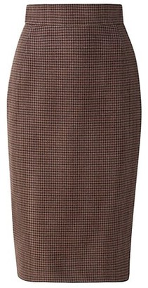 Akris Cashmere Check Pencil Skirt