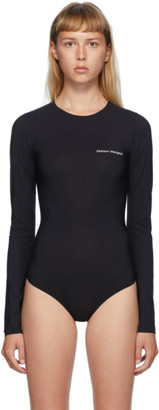 MM6 MAISON MARGIELA Black Logo Printed Bodysuit