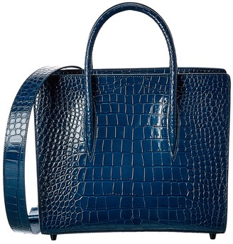 Christian Louboutin Paloma S Medium Croc-Embossed Leather Tote